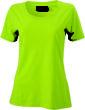 Ladies Basic T Shirt Damenshirt - acid yellow