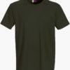 Werbeartikel T Shirt Round Medium - olivgrün