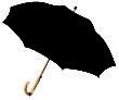 Werbemittel Schirme - schwarz