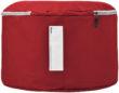 Werbeartikel Strandliege bedrucken - rot mitNamenschild
