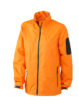 Werbeartikel Sportjacken Ladies Windbreaker - orange/carbon