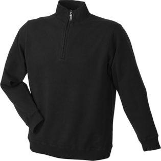 Werbeartikel Sweater Zip - black