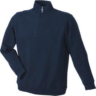 Werbeartikel Sweater Zip - navy