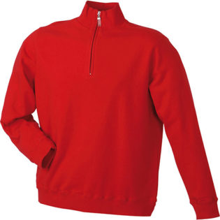 Werbeartikel Sweater Zip - red