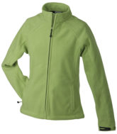 Werbeartikel Jacke Ladies Bonded Fleece - green/navy