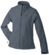 Werbeartikel Jacke Ladies Bonded Fleece - carbon/black