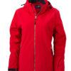 Wintersport Jacket Ladies James and Nicholson - red