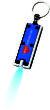 Werbeartikel LED Schlüssellicht - Schlüssellicht inblau/silberfarben