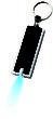Werbeartikel LED Schlüssellicht - Schlüssellicht inschwarz/silberfarben