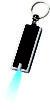 Werbeartikel LED Schlüssellicht - Schlüssellicht inrot/silberfarben