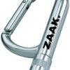 Schlüsselanhänger Karabiner mit LED Lampe - Schlüsselanhängerin silberfarben