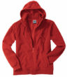 Mikro Fleece Zip Hooded Jacket - red