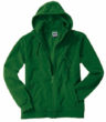 Mikro Fleece Zip Hooded Jacket - dark green