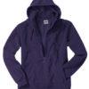 Mikro Fleece Zip Hooded Jacket - aubergine