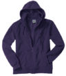 Mikro Fleece Zip Hooded Jacket - aubergine