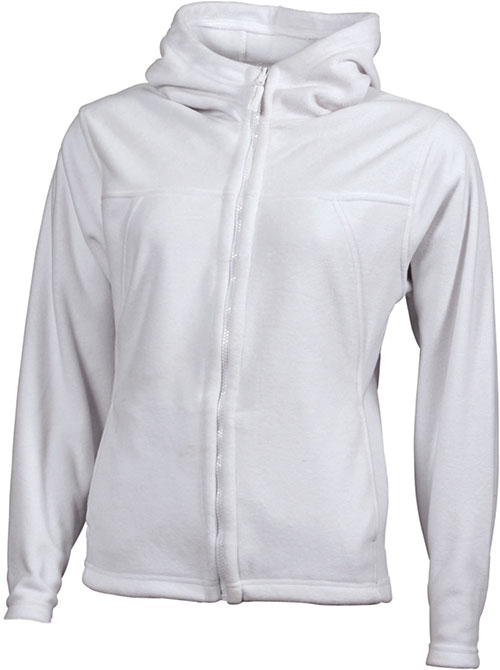 Mikro Fleece Zip Damen Jacke - white