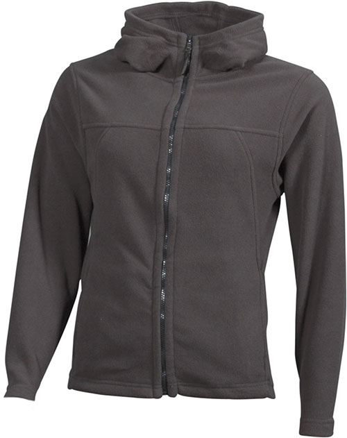 Mikro Fleece Zip Damen Jacke - dark grey