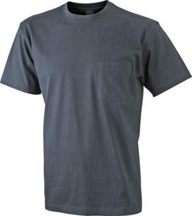 Mens Round-T Pocket T-Shirt - graphite