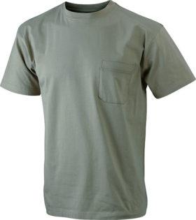 Mens Round-T Pocket T-Shirt - khaki