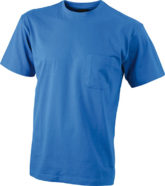 Mens Round-T Pocket T-Shirt - royal