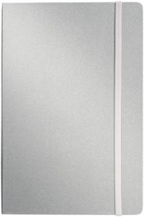 Werbeartikel Notizbuch DIN A5 - Notizbuchin silber
