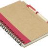 Ring Notizbuch DIN A5 - rot/braun