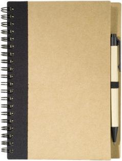 Ring Notizbuch DIN A5 - schwarz/braun