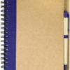 Ring Notizbuch DIN A5 - royalblau/braun