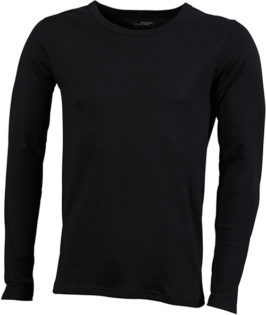 Herrenshirt Long-Sleeved - black
