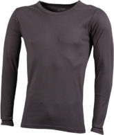 Herrenshirt Long-Sleeved - charcoal