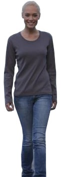 Damen Shirt Long-Sleeved