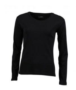 Damen Shirt Long-Sleeved - black