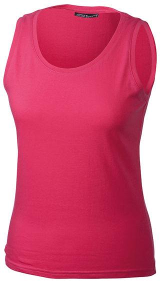 Damen Top Tank James Nicholson - pink