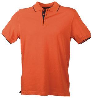 Poloshirts Bi-Color Campus - terra navy
