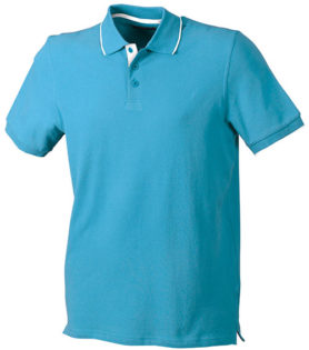 Poloshirts Bi-Color Campus - turquoise white