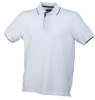 Poloshirts Bi-Color Campus - white black
