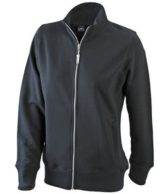 James Nicholson Damen Sweatjacke - black