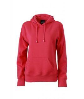 Damen Kapuzen Sweater - pink