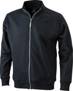 Full Zip Fashion Sweater - black