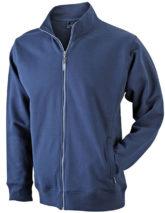 Full Zip Fashion Sweater - navy