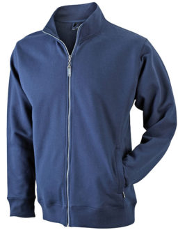 Full Zip Fashion Sweater - navy