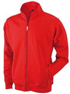 Full Zip Fashion Sweater - red