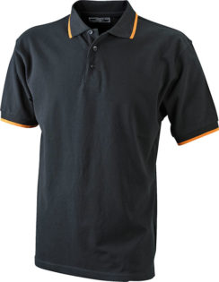 Tipping Polo Werbetextilien - black orange