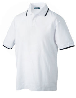 Tipping Polo Werbetextilien - white navy