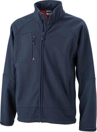 Men's Bonded Fleece - navy/red