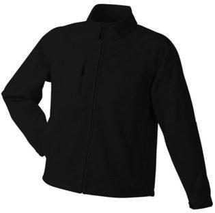 Men's Bonded Fleece -  black/red