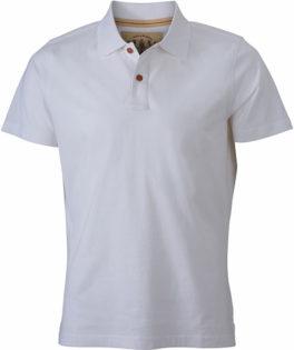 Werbetextilien Tight Fit Polo Vintage - white