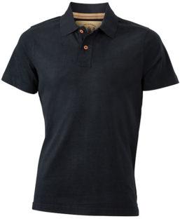 Werbetextilien Tight Fit Polo Vintage - black