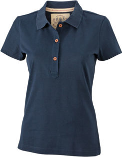 Werbetextilien Ladies Tight Fit Polo Vintage - navy