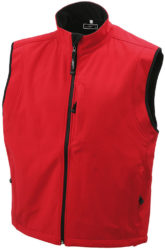 Werbeartikel Bodywarmer Mens Softshell Vest - red